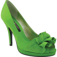 Nina Evelixa - Apple Green Satin - Free Shipping &amp; Return Shipping - Shoebuy.com