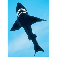7-ft. Black Nylon Shark Kite