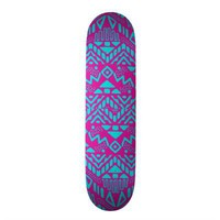 Girly Pink & Teal Blue Andes aztec pattern Skate Board Deck from Zazzle.com