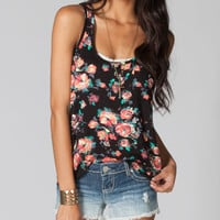 FULL TILT Floral Womens Open Back Crop Tank 212544100 | Tanks & Camis | Tillys.com