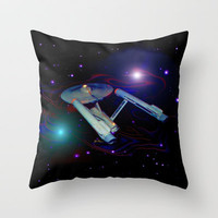 Enterprise NCC 1701 Throw Pillow by JT Digital Art  | Society6