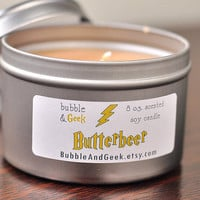 Butterbeer Scented Soy Candle  - 8 oz. tin