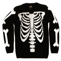 Ribcage Knit Sweatshirt | KILL STAR