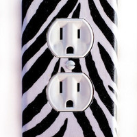 Zebra Outlet Plate, wall decor