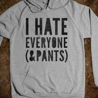 I Hate Everyone And Pants (hoodie) - Galaxy Cats