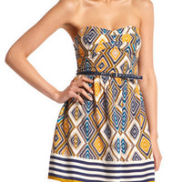 Charlotte Russe - Belted Tribal Tube Dress