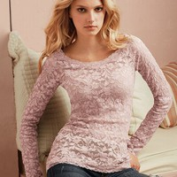 Long-sleeve Lace Tee