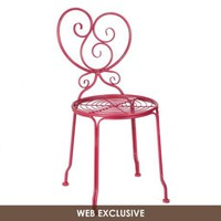 Kallista Red Iron Side Chair | Kirkland's