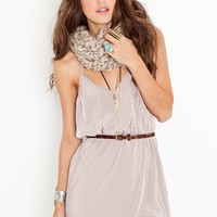 Racerback Wrap Dress - Taupe in  Clothes Dresses at Nasty Gal