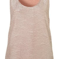 Textured Foil Drop Back Vest - Edited - New In - Topshop