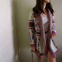 $51.00 Tribal Print Cardigan by inzoopsia on Etsy