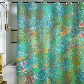 Stephanie Corfee Secret Garden Shower Curtain