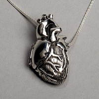 Original Silver Anatomical Heart Locket 18 by PeggySkempJewelry