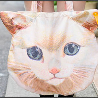 Sandysshop  Cat Face Bag/Tote