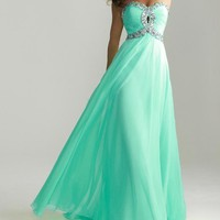Charming Sweetheart Strapless Prom Gown by Night  from sweetheart dresses