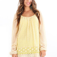 Lace Bell Sleeve Tunic  from Shopbellastyle