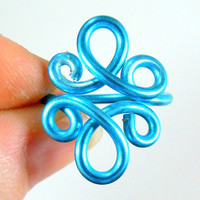 Double Loop De Loop Adjustable Ring