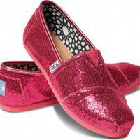 Hot Pink Youth Glitters | TOMS.com
