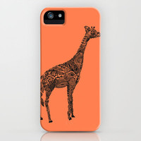 Designer Giraffe Coral iPhone Case by Kanika Mathur | Society6