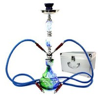 "Amazon.com: Never Exhale (TM) 22"" 2 Hose Hookah Shisha Narghile Complete Set - Swirl Paint Design - Pick Your Color: Health & Personal Care"