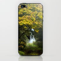 An Autumn  Lane iPhone & iPod Skin by John Dunbar | Society6