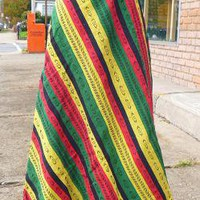 YEAR END SALE  Long Rasta Colored Wrap Skirt NEW
