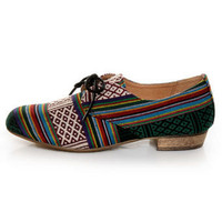 Chelsea Crew Samba Multi Fab Guatemalan Striped Oxfords - $59.00