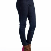 high waisted skinny jeans &amp;#36;36.80 in DKBLUE - Jeans | GoJane.com