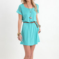 Kirra Lace Inset Solid Scoop Dress - PacSun.com