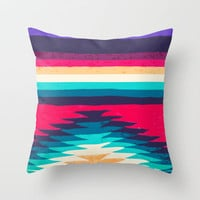 SURF GIRL Throw Pillow by Nika  | Society6