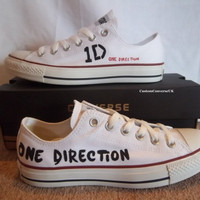 One Direction Lowtop Converse by CustomConverseUK on Etsy