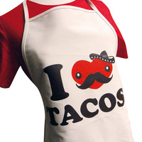 I LOVE TACOS - Canvas Apron