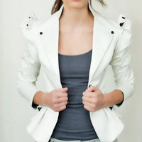 enia jacket (white, black, red, pink, nude)
