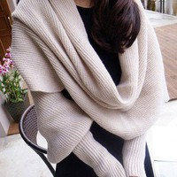 Woolen Scarf with Sleeves for Winter — accessoryinlove