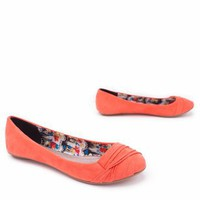 pintuck suede flat $19.40 in BLACK CORAL YELLOW - Flats | GoJane.com
