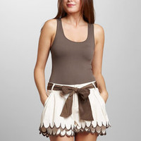 ideeli | AREVE Scallop Trim Shorts