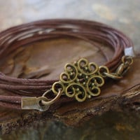 BRONZE ORNAMENT wrap bracelet with bands & bronze by AsaiBolivien $ 7,90