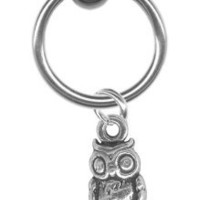 Amazon.com: 16 gauge Earring-Sterling Silver Owl Captive Ring-16 gauge 5/16 inch-Cartilage Earring-Tragus Jewelry-Ear Hoop Body Jewelry: Jewelry