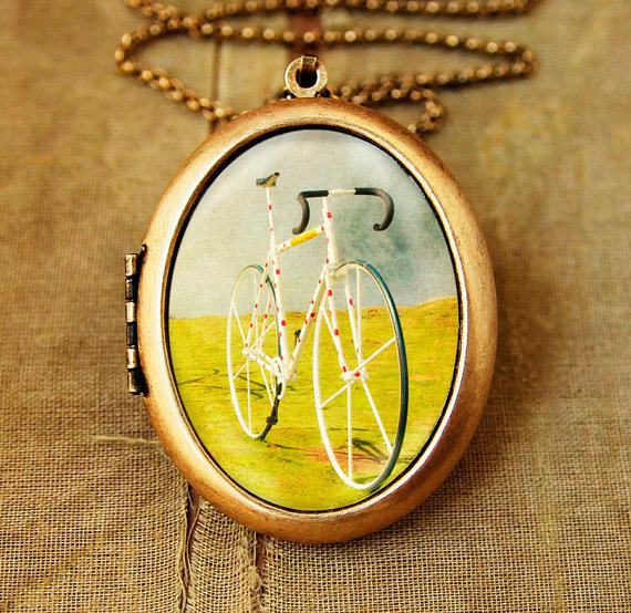 Tour de France  Photo Locket  Le Tour Bicycle by HeartworksByLori