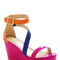Girls Magenta Have Fun Wedge | Mod Retro Vintage Sandals | ModCloth.com