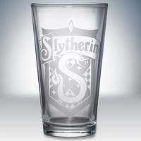 Slytherin Logo Pint Glass by Partywareinc on Etsy