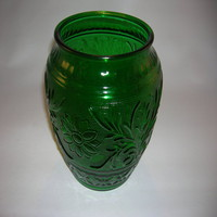 Anchor Hocking Sandwich cookie jar in Forest Green