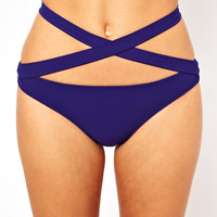 Mouille | Mouille Low Rise Wrap Bikini Bottom at ASOS