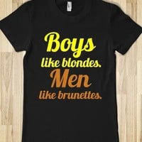 boys like blondes. men like brunettes. - glamfoxx.com
