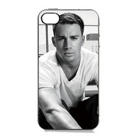 Amazon.com: Black and White Style Channing Tatum Black Sides Hard Plastic Slim Snap On Case Cover for iPhone 4 4s in EverestStar Box Packaging: Cell Phones & Accessories