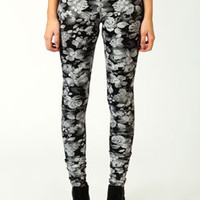 Tara Photographic Rose Print Leggings