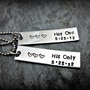 Her One His Only - Date - Couple&#x27;s Necklace - Stainless Steel