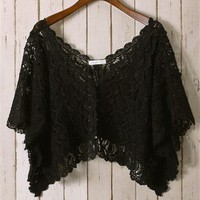 Black Eyelash Crochet Top
