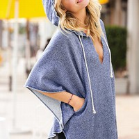 Split-neck French Terry Poncho