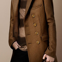 Wool Blend Chesterfield Coat